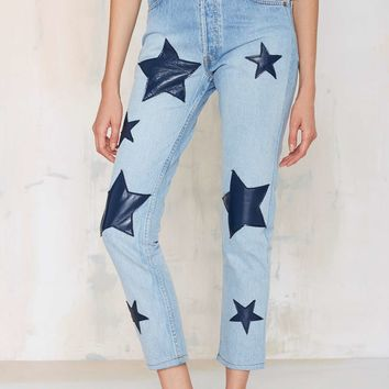 After Party Vintage Star-Crossed High Waisted Jeans