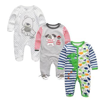 Newborn Baby Boys Rompers Baby Girl Clothes 100%Cotton Long Sleeve Foot Cover Blanket Sleepers Infant Products for 0-12 Months