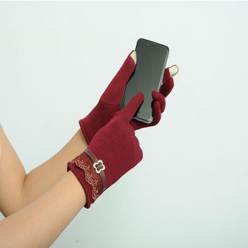 Touch Screen Gloves Ladies Winter Warm Mittens Use Device While Keeping Hands warm