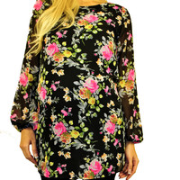 Floral Maternity Tops - Floral Fascination