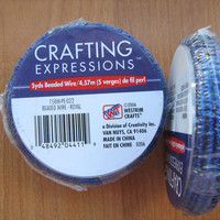 Beaded wire royal blue 5 yard spool Crafting Expressions