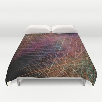 Life color fractal art Duvet Cover by jbjart
