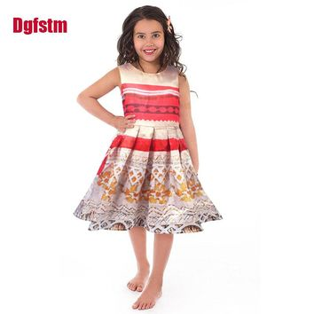 Little Adventures Polynesian Princess Dress Up Costume for Girls Moana party Christmas Dresses Vaiana Halloween Cosplay Clothing