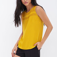 FOREVER 21 Chiffon Paneled Top