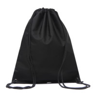 Black Sports Drawstring Bag