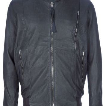 Silent Damir Doma 'Jesve' Leather Bomber Jacket