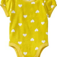 Scalloped-Trim Printed Bodysuits for Baby