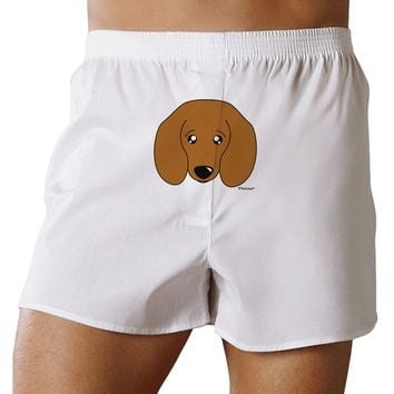 Cute Doxie Dachshund Dog Front Print Boxer Shorts by TooLoud
