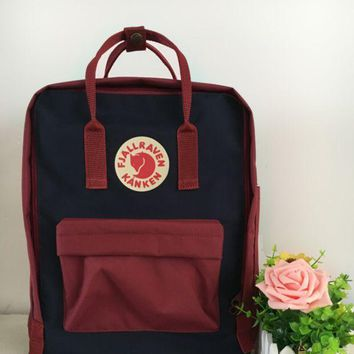 PEAPDQ7 Fjallraven Kanken Durable Backpack School Travel Bag