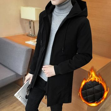 Autumn And Winter jackets mens Man Loose Coat Clothes Cotton Thickening Windbreaker parka jaqueta masculina