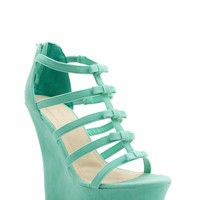 Laddered Bows Platform Wedges