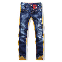 Strong Character Mosaic Slim Pants Men's Fashion Jeans [6541742019]