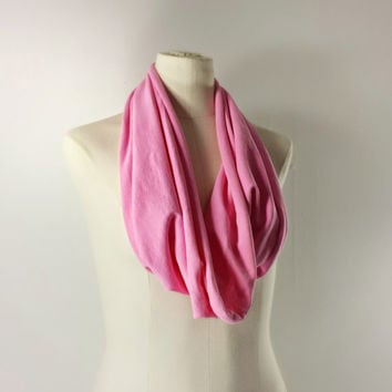 BREAST CANCER AWARENESS  Cowl Neck Scarf - Infinity Scarf - Cotton Scarf - Available in Many Colors