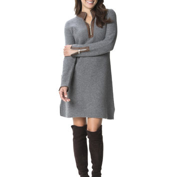Gray Textured Foxfield Dress
