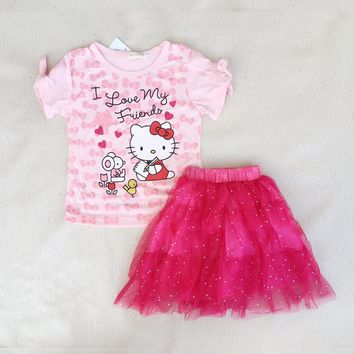I Love My Friend Hello Kitty Clothing Set