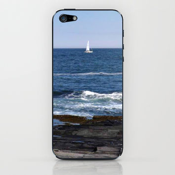 Sail Boat iPhone & iPod Skin by Kelly Sweet