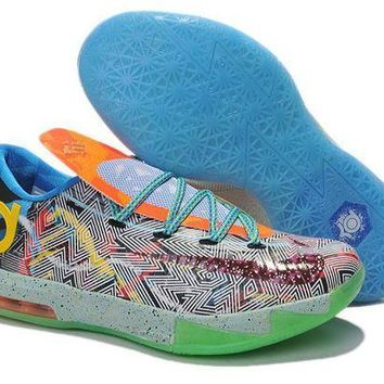 PEAPON3A VAWA Nike Men's Durant Zoom KD 6 Basketball Shoes Iridescence