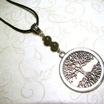 Tree of Life Necklace, Labradorite Jewelry, Viking Celtic Pagan Spiritual Metaphysical, Unisex, Gift for Him, Gift for Her, Gift for Men