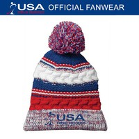 USA Field Hockey Pom Pom Beanie-longstreth.com