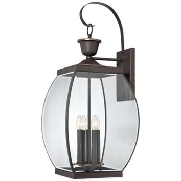 Quoizel Oasis Outdoor Extra-Large Wall Lantern in Medici Bronze