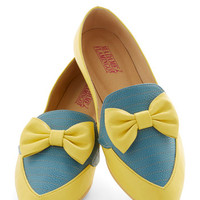 ModCloth Menswear Inspired Gelato Getaway Flat in Lemon