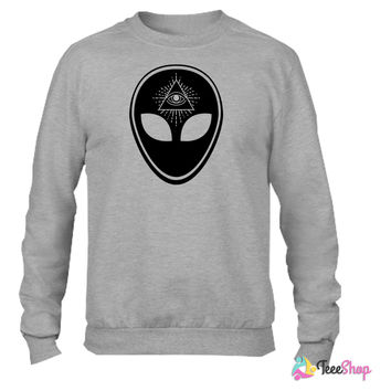 Alien (1 Color) Crewneck sweatshirtt