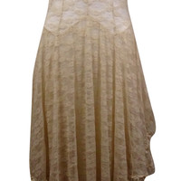 Intimately Free People Women's Elegant See Though Floral Lace Dress