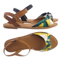Coastline98 Ankle Strap Flat Sandal - Women Summer Slip On Shoes