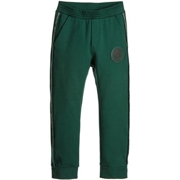 Versace Boys Forest Green Tracksuit Pants