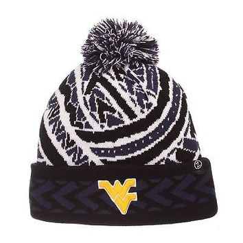 Licensed West Virginia Mountaineers NCAA Kulua Adjustable Beanie Knit Sock Hat Zephyr KO_19_1