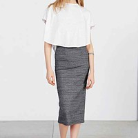 Silence + Noise Uni Ribbed Midi Skirt