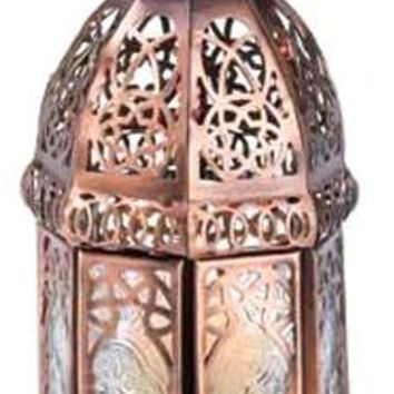 Iron Copper Moroccan Candle Lamp
