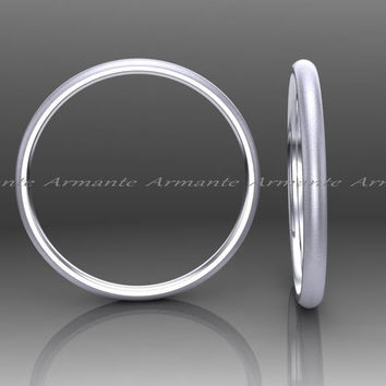 Skinny White Gold Womens Wedding Ring, 1.50mm Wide