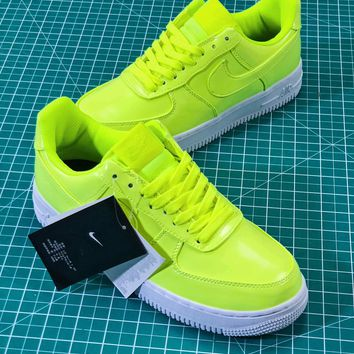 Nike Air Force 1 Low Af1 07 Lv8 Patent Leather Pack Green Aj9505-700 Sport Shoes Sneakers - Sale
