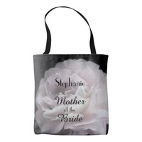 Mother of the Bride Personalized Pale Pink Rose Tote Bag