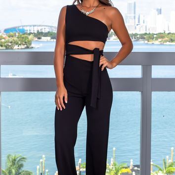 Black Cut Out Jumpsuit