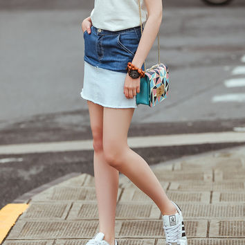 Summer Denim Dress Gradient Skirt [8082582599]