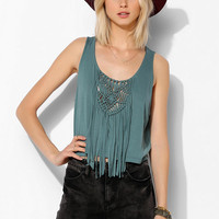 Staring At Stars Fringe Tank Top - Urban Outfitters