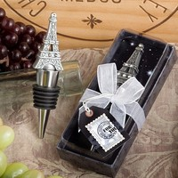 Fashioncraft From Paris with Love Collection Eiffel Tower Wine Bottle Stopper Favors