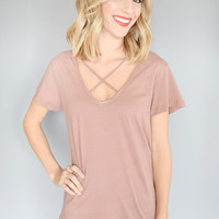 Milky Way Strappy Tee Sienna