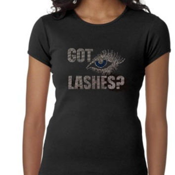 Younique Got Lashes? Rhinestone Shirt