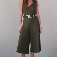 DRIFTER JUMPSUIT IN OLIVE