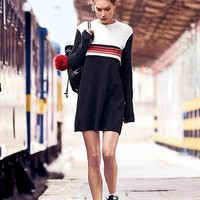 Free People Colorblock Swit Mini Dress