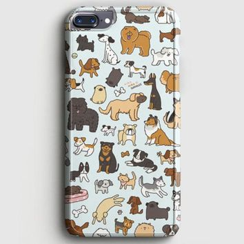 Dog Cute Husky Kawaii Corgi Pattern iPhone 8 Plus Case | casescraft