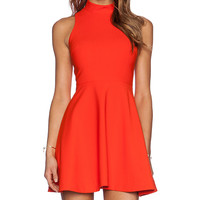 Elizabeth and James Elle Dress in Orange