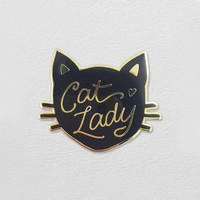 Cat Lady Lapel Pin