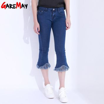 Bell Bottom Black Jeans Female High Waist Skinny White Jeans Flare Stretch Denim Pants Classic Pantaloon