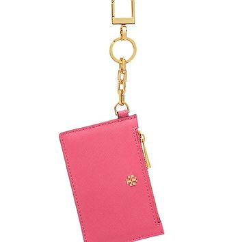 Tory Burch Robinson Zip Card Key Fob