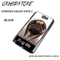 New Design Funny Hilarious Pug Life Parody Fans For Samsung Galaxy Note 2 Case Please Make Sure Your Device With Message Case UY