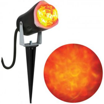 Gemmy 56777 Halloween Outdoor LightShow Spot Light, Fire & Ice, Orange